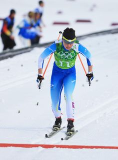 DAY 13:  Kerttu Niskanen of Finland competes during the Cross Country Women's Team Sprint Classic http://sports.yahoo.com/olympics