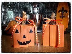 Wooden Pumpkins by AGirlAndA2x4 on Etsy, $12.00