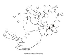 disegni da stampare giorni della merla School Coloring Pages, Colouring Pages, Winter Season, Fall Winter, Symbols, Birds, Letters, Seasons, Drawings