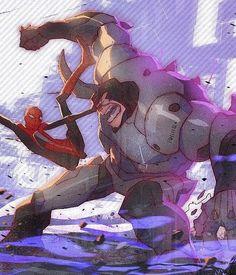 Spider-Man vs the Rhino Spiderman Art, Amazing Spiderman, Marvel Vs, Marvel Memes, Cartoon Sketches, Spider Verse, Fun Comics, Anime Manga, Comic Art