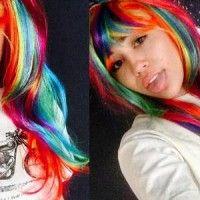 Rainbow hair style