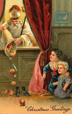 Celebrating St. Nicholas Day - December 6th. A German family tradition brought to the United States. #Christmas #StNicholas #StNicholasDay #Traditions