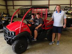 Congratulations to Sean Powers, and Jacob and George Sergent from Ocean Springs, MS for purchasing a 2017 Kawasaki Mule SX from Hattiesburg Cycles. #kawasaki