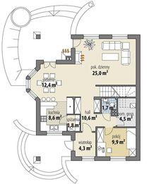 Projekt domu Ariadna III 135,20 m² - koszt budowy - EXTRADOM Little Houses, Floor Plans, Projects, Small Houses, Tiny Houses, Floor Plan Drawing, Tiny Homes, House Floor Plans