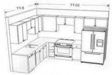 There is no question that designing a new kitchen layout for a large kitchen is much easier than for a small kitchen. A large kitchen provides a designer with adequate space to incorporate many convenient kitchen accessories such as wall ovens, raised. Kitchen Lighting Design, Kitchen Lighting Fixtures, Kitchen Design, Light Fixtures, Home Design, Layout Design, Contemporary Kitchen Island, Kitchen Cupboard Designs, Kitchen Cabinet Layout