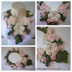 Silvia Gramani: Miss Flower Long Necklace - Pink [Beautiful inspiration, but for something more subtle.]