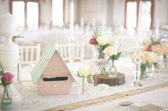 Lovely DIY Wedding table set up Diy Wedding, Wedding Venues, Table Set Up, Wedding Table Settings, Table Decorations, Contemporary, Fun, Home Decor, Wedding Reception Venues