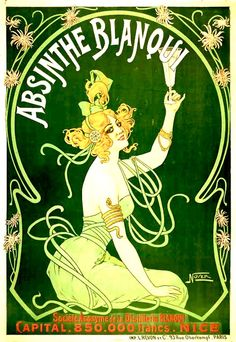 Toulouse-Lautrec... charming poster, but my dears, do beware of the absinthe...