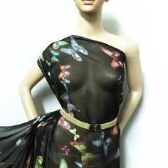 100% PURE SILK CHIFFON MATERIAL BUTTERLFY PATTERN PRINT BY THE YARD jhc 20119 | Crafts, Fabric | eBay! Chiffon Material, Chiffon Fabric, Silk Chiffon, Pattern Print, Print Patterns, High End Fashion, Mulberry Silk, 100 Pure, Pure Silk