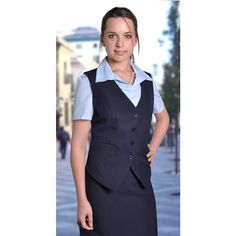 Paula Waistcoat Brand: DUCHESS Has jetted pockets and a panelled waistline Corporate Outfits, Vest, Pockets, Lady, Skirts, Clothing, Model, Pants, Dresses