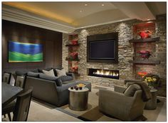 Linear fireplace design blog