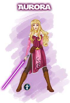 Jedi Disney Princess Aurora... Epic nerdiness :)