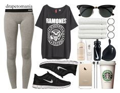 """""""February 23rd, 2015"""" by andystyles ❤ liked on Polyvore featuring NIKE, H&M, Ray-Ban, Frends, Linum Home Textiles, MakeUpStone, philosophy and H2O+"""