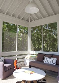 Heather A Wilson, screened in treehouse porch. Outdoor Rooms, Outdoor Living, Outdoor Furniture Sets, Side Porch, Screened In Porch, Porch Knee Wall, Pergola, Gazebo, Porch Interior