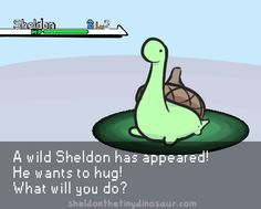 Sheldon the Tiny Dinosaur who Thinks he's a Turtle, , This is actually pretty old, and was originally...