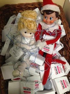 The Tooth Fairy & Elf on the Shelf want to remind everyone to keep flossing during the season!    #Dentaltown