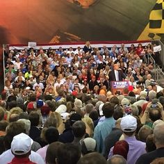 Incredible crowd in Richmond, Virginia tonight! So much spirit and energy! #makeamericagreatagain
