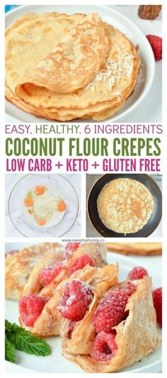 KETO COCONUT FLOUR CREPES are easy low carb breakfast or desserts crepes perfect for sweet or savory filling. KETO COCONUT FLOUR CREPES are easy low carb breakfast or desserts crepes perfect for sweet or savory filling. Low Carb Breakfast Easy, Breakfast And Brunch, Breakfast Ideas, Breakfast Recipes, Perfect Breakfast, Keto Diet Breakfast, Low Carb Dessert Easy, Breakfast Gravy, Dinner Recipes