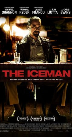 """The Iceman (2012) - Poster - """"Shannon is pitch-perfect as the ruthless, intimidating contract killer, Kuklinski. If you're a fan of gangster dramas and crime thrillers, you'll probably enjoy this."""""""