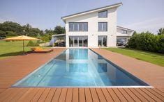 venkovní bazén, nerezový bazén, skimmerový bazén, rodinný bazén, dětské brouzdaliště, design, architektura, rodinný dům, zahrada Garden Pool, Outdoor Decor, Design, Home Decor, Decoration Home, Room Decor, Home Interior Design, Home Decoration