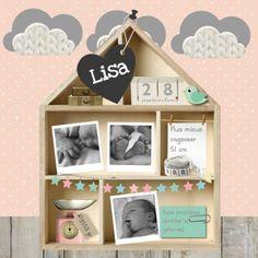 Geboortekaartje Letterbak Huisje 1