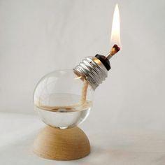 Recycling Ideen - Eine Gaslampe aus einer Glühbirne basteln