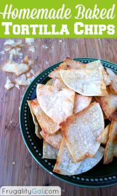 Homemade tortilla chips - only 159 calories per serving and ready in under 20 minutes. Cost of whole recipe is just $0.71! | www.frugalitygal.com