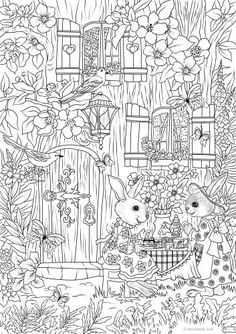 Tea Time colouring page