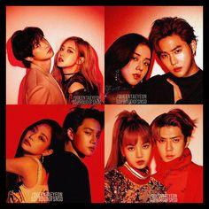 #EXO #BLACKPINK #KAI #SEHUN #CHANYEOL #SUHO #JENNIE #LISA #ROSE #JISOO #JENKAI #CHANROSE #HUNLISA #JIHO