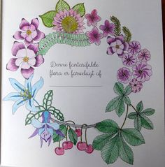 Fasters korthus: Colouring book - Fantasifuld flora