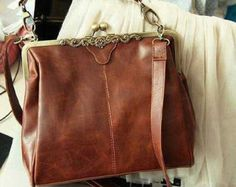 SALE 20% - Vintage Romantic Brown Bag - synthetic pu Leather Purse shoulder  Bag Borsette · Borsette Michael KorsBorsette Alla ModaBorse ... f71a700424b