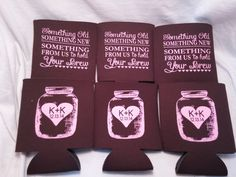 Hey, I found this really awesome Etsy listing at https://www.etsy.com/listing/224838073/wedding-koozies-design-176155301-lot-of