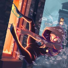 Spider Gwen by Paulo-Niza on DeviantArt Marvel Fan Art, Marvel Heroes, Marvel Dc Comics, Marvel Avengers, Spider Man's, Marvel Spider Gwen, All Spiderman, Amazing Spiderman, Silk Marvel