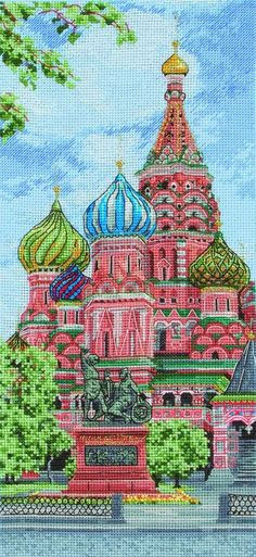 The Kremlin Kit The Kremlin in Moscow is one of the grandest Russian citadels to behold and this vibrant, colourful cross stitch kit is a joy to comp...