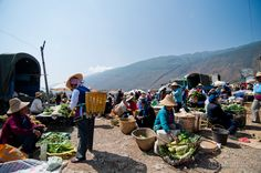 Market with a view @ Shaping Monday Market, Yunnan Province, China