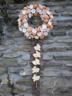 Easter wreath eggs