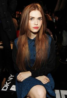 Holland Roden at the DKNY Women's Fall 2013 fashion show (February 10, 2013).