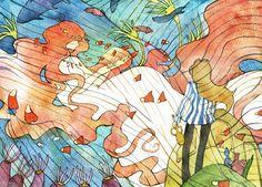 Tags: Anime, Underwater, Gake no Ue no Ponyo, Studio Ghibli, Muttiy, Granmamare, Fujimoto (Ponyo)