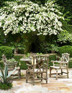 Faux Bois furniture. green/white.