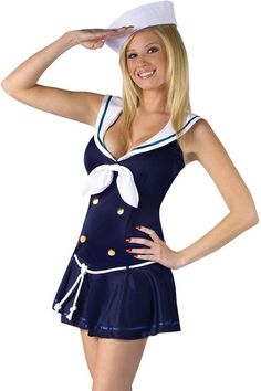 2016 Anchors Away Adult Women Sailor Costume LC8875 Sex Products fantasias femininas Halloween Costumes for Women