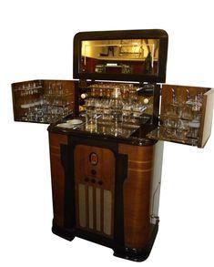 Spectacular Art Deco Philco RadioBar 1936