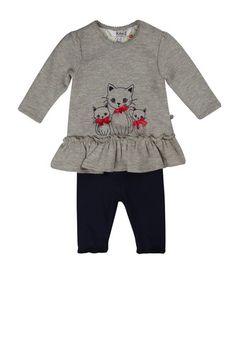 KANZ Kanz T-Shirt langärmlig + Leggings Mädchen Baby grau