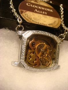 Unique Steampunk Watch Parts in Upcycled Vintage Watch Case Necklace - Victorian Style (1449) on Wanelo