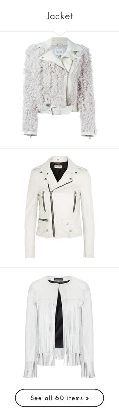 """""""Jacket"""" by smaeri ❤ liked on Polyvore featuring outerwear, jackets, coats & jackets, white faux fur jacket, white moto jacket, moto jacket, dagmar, white biker jacket, leather jacket and white"""
