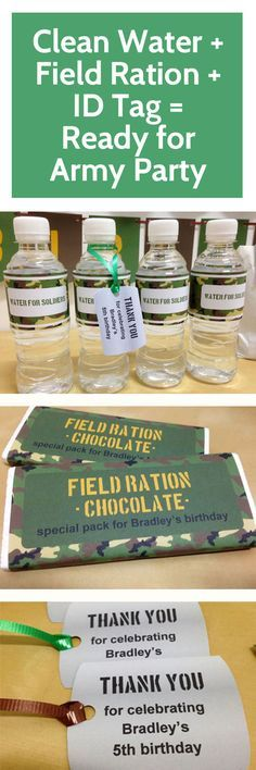Essentials for an army themed #party! More at mrpartyideas.com.