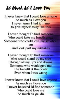 unconditional love poems