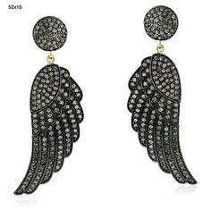 cool 18k Gold.925 Sterling Silver Diamond Dangle Earrings Pave Jewelry