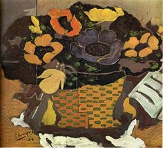 Anemones by Georges Braque.  Art Experience NYC  www.artexperiencenyc.com/social_login/?utm_source=pinterest_medium=pins_content=pinterest_pins_campaign=pinterest_initial