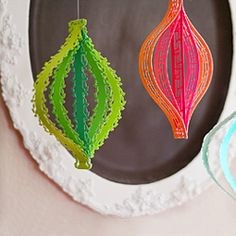 Add wow factor to paper strip ornaments.  (use pre-cut scrapbooking border papers...)