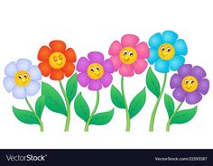 Flower theme image 5 vector image on VectorStock Photo Frame Wallpaper, Cute Wallpaper Backgrounds, Sight Word Wall, Stick Figure Drawing, Page Borders Design, Free Collage, Cartoon Flowers, Hand Painted Fabric, Carnival Birthday Parties